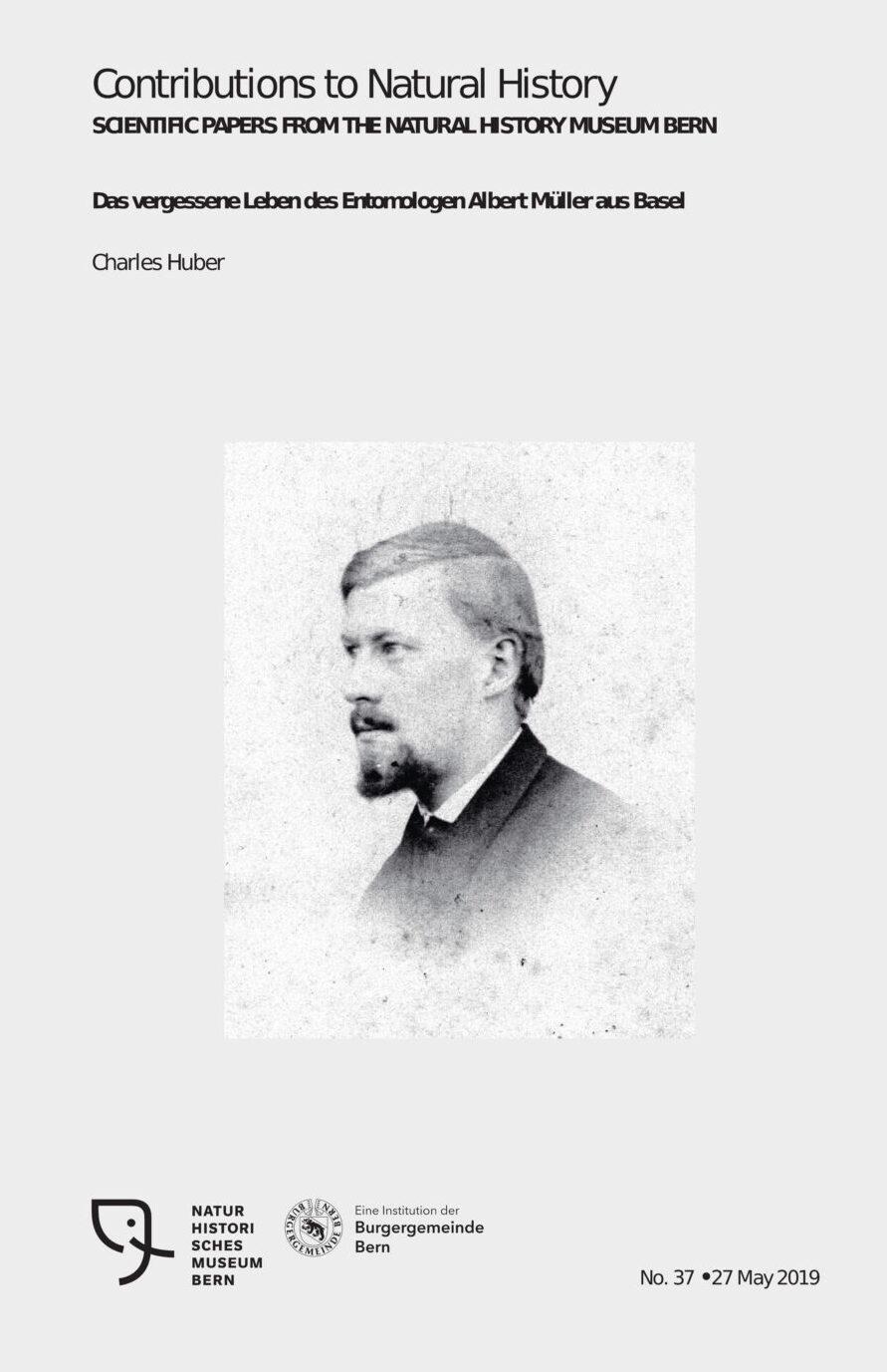 Albert Müller, Entomologe, Naturhistorischs Museum Bern, Publikation von Chrles Huber. CC-BY-SA 4.0 charles Huber, Oberdiessbach, Schweiz